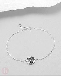 Bratara argint simbol Sahasrara - Chakra Coroana