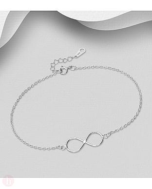 Bratara argint simplu simbol infinity