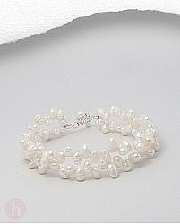 Bratara argint sirag dublu de perle