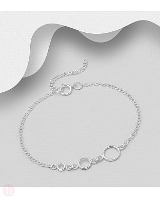 Bratara din argint cu cercuri