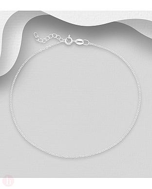 Bratara din argint pentru glezna, model lantisor simplu