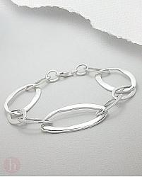 Bratara din argint simplu cu verigi mari