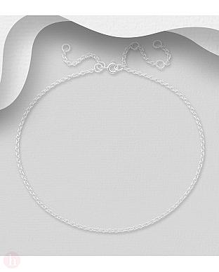 Bratara din argint simplu pentru glezna, model lantisor