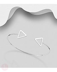Bratara fixa argint triunghi