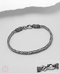 Bratara cilindrica din argint model celtic