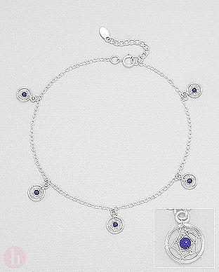Bratara glezna panza de paianjen cu lapis lazuli