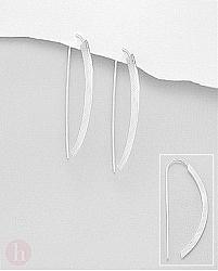 Cercei argint mat arc de cerc