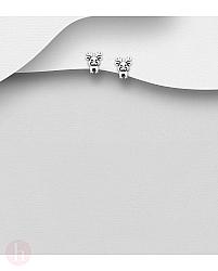 Cercei din argint simplu model ren