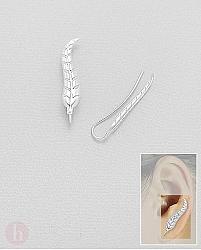 Cercei agrafa ear pins model pana curbata