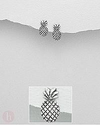 Cercei argint ananas