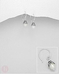 Cercei argint clopotel cu perla