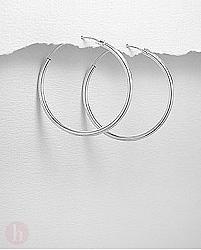 Cercei argint creole - veriga medie 40 mm