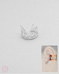 Cercel argint Ear Cuffs coroana pentru o ureche