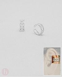 Cercei argint ear cuffs cu cercuri