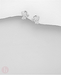 Cercei argint fluturasi cu pietre