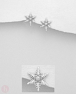 Cercei argint fulgi de zapada