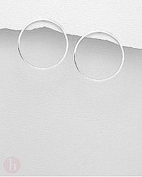 Cercei argint model cerc - veriga