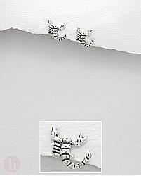 Cercei argint model scorpion
