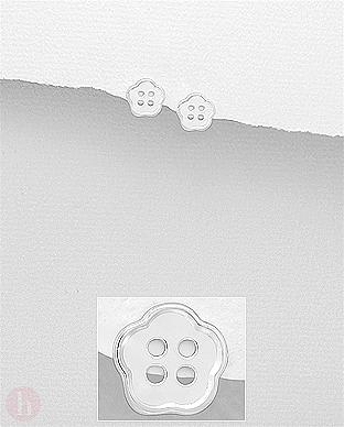 Cercei mici argint nasture