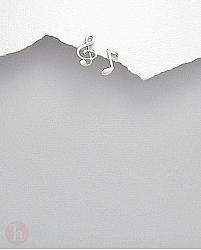 Cercei argint note muzicale