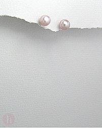 Cercei argint perle de cultura mov 6 mm