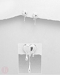 Cercei argint simplu inima topita
