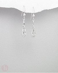 Cercei argint simplu lacrima filigran