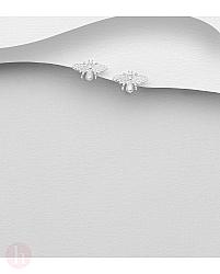 Cercei din argint model albina