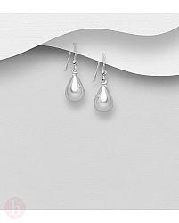 Cercei din argint model lacrima