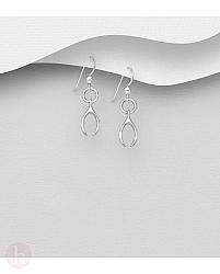 Cercei din argint Wishbone