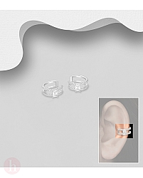 Cercei ear cuffs din argint cu cristale
