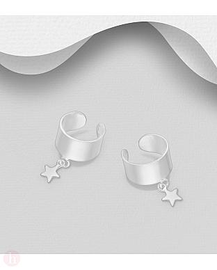 Cercei ear cuffs din argint model cu stea