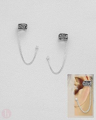 cumpara popular vânzare online magazin de reduceri Cercei argint greek tip ear cuff si lantisor