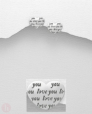 Cercei argint inimioara mesaj love you