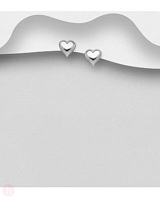 Cercei mici argint inima simpla