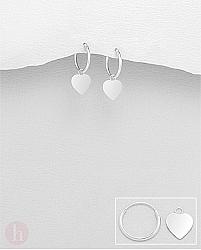 Cercei mici argint veriga inimioara