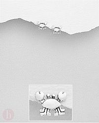 Cercei mici din argint model crab