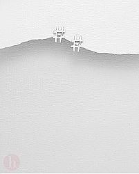 Cercei mici din argint model Hashtag - Diez