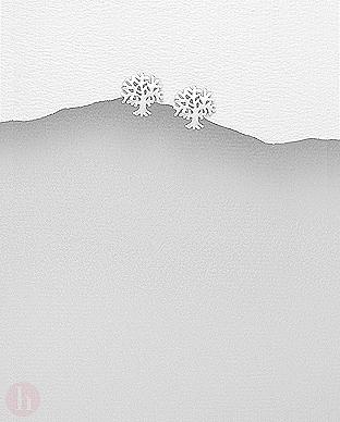 Cercei mici din argint Tree of Life