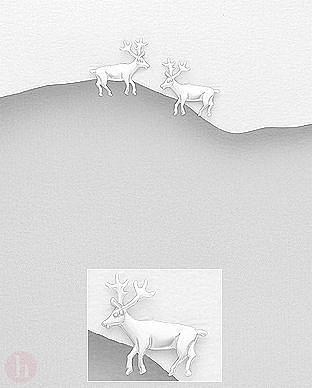 Cercei reni din argint