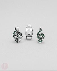 Charm - talisman din argint cu note muzicale