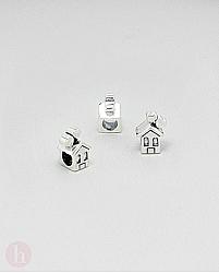 Charm - talisman din argint model casa