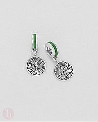 Charm - talisman din argint model celtic cu floare de crin