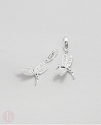 Charm - talisman din argint model libelula