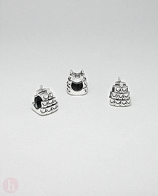 Charm - talisman din argint model tort