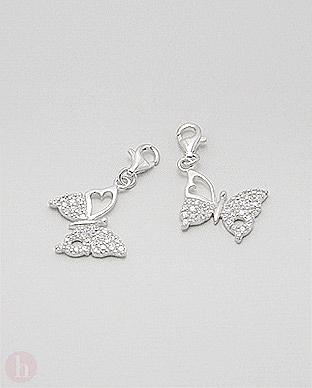 Charm - talisman din argint pentru bratara, model fluture