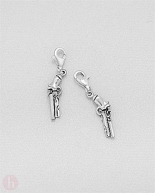 Charm - talisman pentru bratara din argint, model pistol