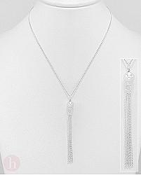 Colier din argint cu biluta si lantisoare