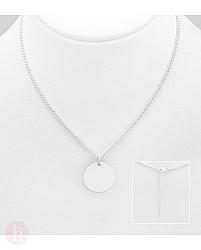 Colier din argint cu pandantiv cerc