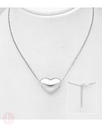 Colier din argint cu pandantiv inima